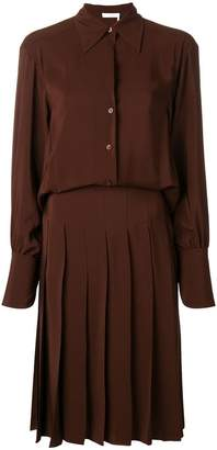 Chloé pleated shirt dress