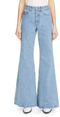 Matthew Adams Dolan High Waist Flare Leg Jeans