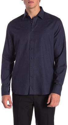 Toscano Speckle Print Regular Fit Shirt