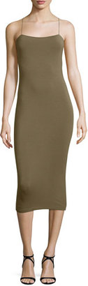 T by Alexander Wang Strappy Cutout Midi Dress, Army $145 thestylecure.com