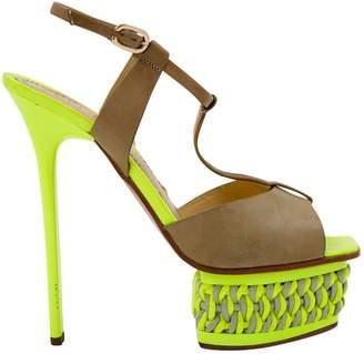 Pollini Yellow Patent leather Heels