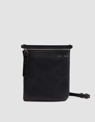 Kara Pebble Leather Waist Bag in Black