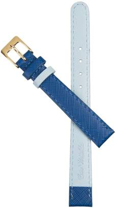 Auree Jewellery - Montmartre Royal Blue & Powder Blue Leather Watch Strap With Yellow Gold Buckle