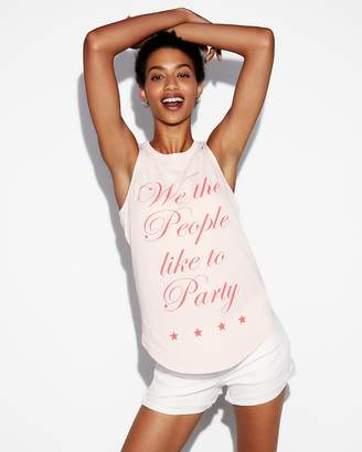 Express We The People Like To Party Muscle Tank