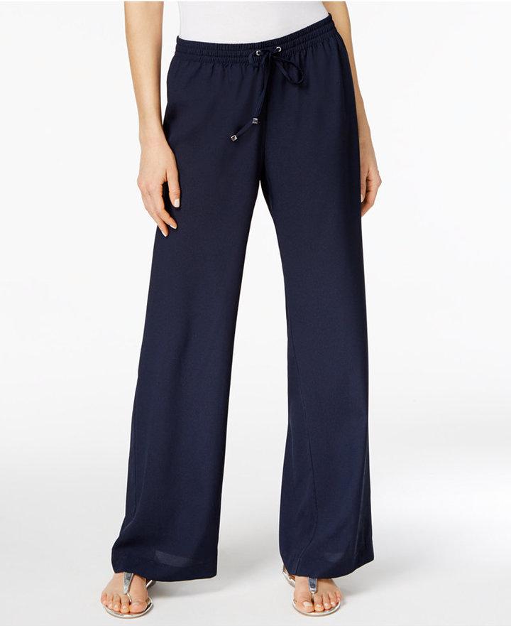 Calvin KleinCalvin Klein Drawstring Wide-Leg Pants
