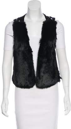 What Goes Around Comes Around Crotchet-Accented Fur Vest