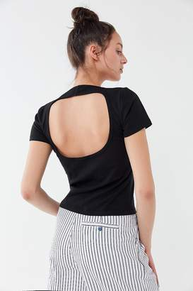 Truly Madly Deeply Cutout Scoop Neck Tee