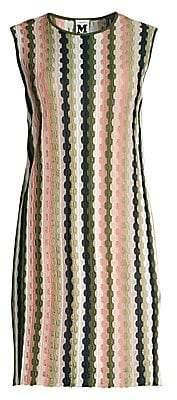 M Missoni Women's Striped Crochet Shift Dress