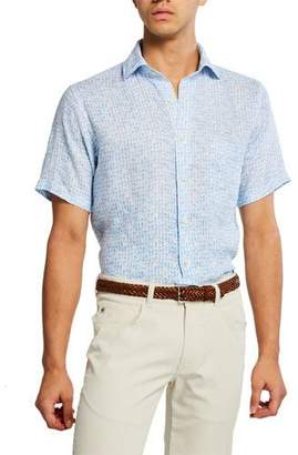 Peter Millar Men's Little Friday Cocktail Print Shirt