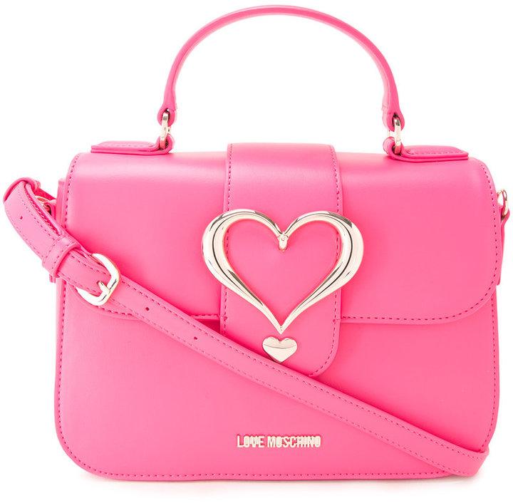 Love MoschinoLove Moschino heart buckle cross body bag