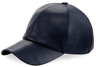 Buscemi Calf Leather Baseball Cap
