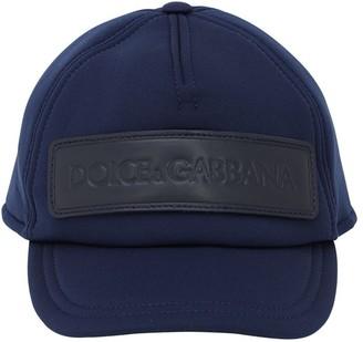 Dolce & Gabbana Logo Patch Neoprene Baseball Hat