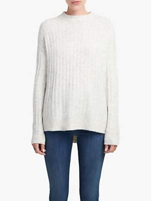 French Connection Flossy Textured Jumper, Dove Grey