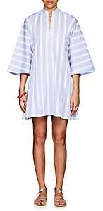 Thierry Colson Women's Rachel Striped Cotton Mini-Caftan - Blue