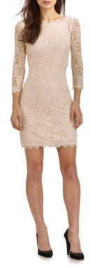 Diane von Furstenberg Zarita Lace Dress $348 thestylecure.com