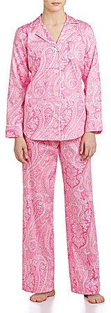 Lauren Ralph LaurenLauren Ralph Lauren Classic Notch-Collar Sateen Pajamas
