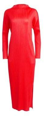Pleats Please Issey Miyake Monthly Colors Mockneck Maxi Dress