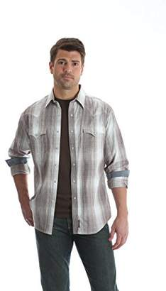 Wrangler Men's Retro Western Snap Front Long Sleeve Shirt