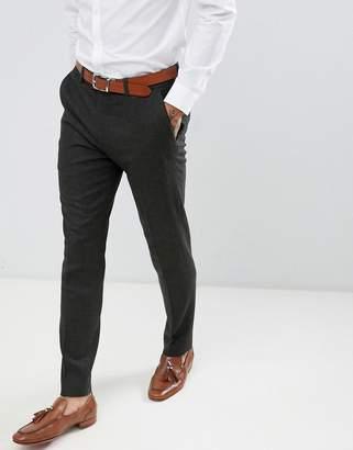 Gianni Feraud Slim Fit Green Donnegal Wool Blend Suit Pants