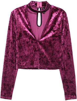 H&M Velour Top - Pink