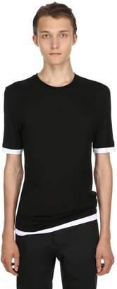 Neil Barrett Slim Fit Viscose T-Shirt