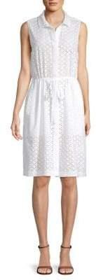 Club Monaco Turia Sleeveless Cotton Shirtdress
