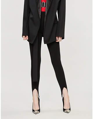 Givenchy Stirrup-embellished stretch-jersey leggings