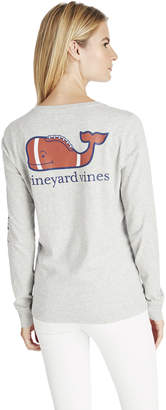 Vineyard Vines Long-Sleeve Classic Football Whale Tee