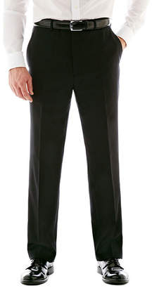 STAFFORD Stafford Executive Super 100 Wool Black Stripe Flat-Front Suit Pants - Classic