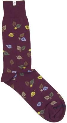 40 Colori - Burgundy Birch Organic Cotton Socks