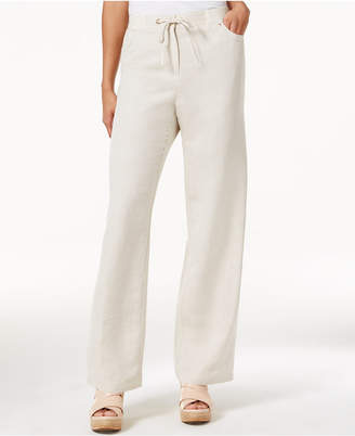 JM Collection Linen-Blend Wide-Leg Pants, Only at Macy's $49.50 thestylecure.com