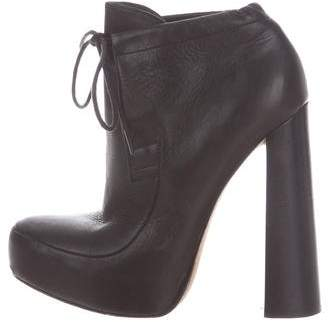 Alexander Wang Platform Leather Ankle Boots