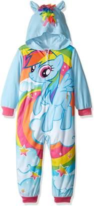 My Little Pony Girls' Big Girls' Rainbow Dash Hooded Fleece Blanket Sleeper