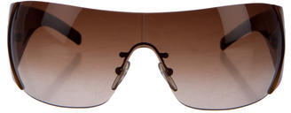 prada Prada Oversize Shield Sunglasses
