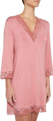 Eberjey Noor Lace-Trim Sleepshirt
