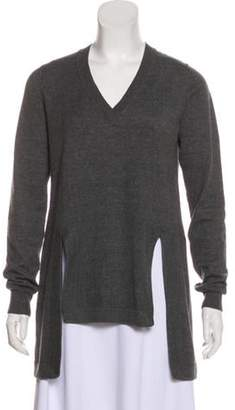 Givenchy Wool & Alpaca-Blend Sweater Grey Wool & Alpaca-Blend Sweater