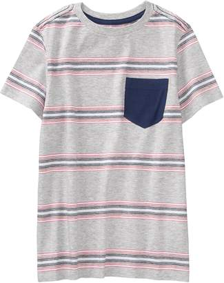 Crazy 8 Crazy8 Stripe Pocket Tee