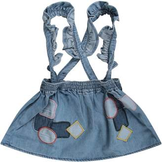 Stella McCartney Light Blue Babygirl Overall With Colorful Patches