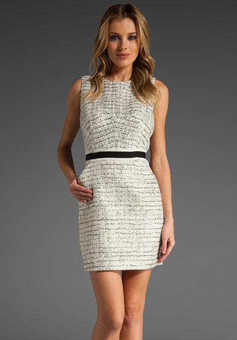 Milly Colette Tweed Sheath Dress