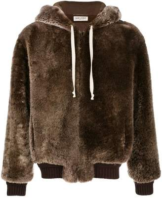 Saint Laurent fur zipped jacket