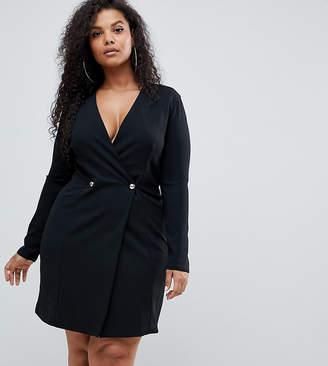 327928845ae Club L London Plus Plus double breast blazer dress
