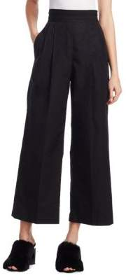 Alexander Wang Deconstructed High-Waist Cropped Cotton Pants