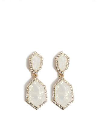 Forever 21 Iridescent Faux Stone Drop Earrings