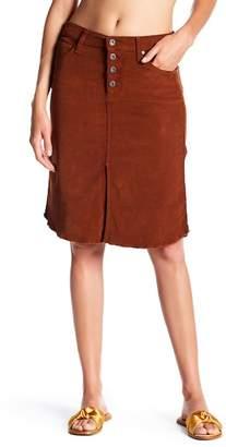 James Jeans Lana Front Slit Corduroy Skirt