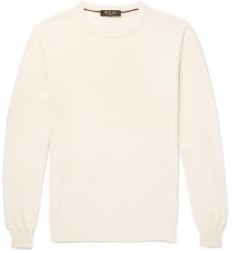 Loro Piana Textured Cotton, Silk And Cashmere-Blend Sweater