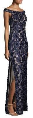 Aidan Mattox Off-The-Shoulder Gown
