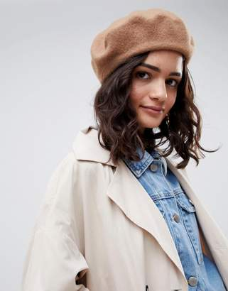 Asos DESIGN wool beret