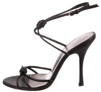 Tom Ford Leather Ankle Strap Sandals