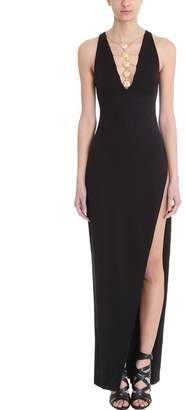 Balmain Black Viscose Long Dress