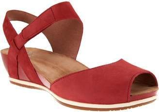 Dansko Leather Peep-toe Sandals - Vera
